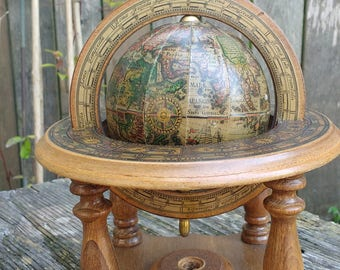 Astrology World Globe Map UGC Made in Italy