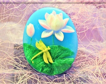 Lotus Gragonfly Soap-Flower Soap-Gift for Her-Mothers Day- Birthday-Spa