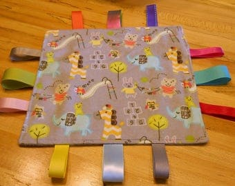 New, Handmade Baby Tag Blanket