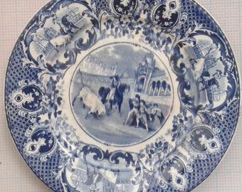 Society Ceramique Maastricht, ornamental board, Taurus fight, Made in Holland
