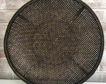 Dark Woven Wall Basket