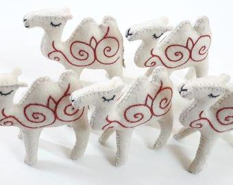 Toy Camel, Handmade, Natural Felt