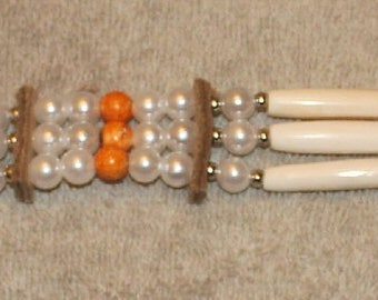 Pearl and Orange Choker ch15