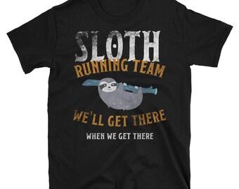 Sloth Running Team Short-Sleeve Unisex T-Shirt