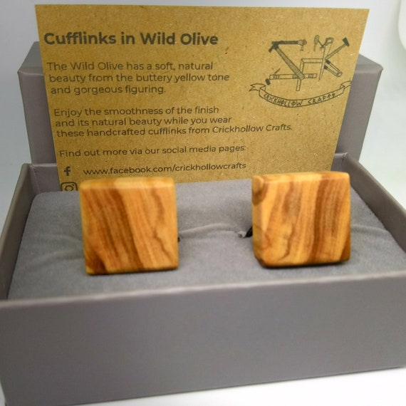 Wild Olive Cufflinks - handcrafted jewellery by Crickhollow Crafts - bespoke by nature