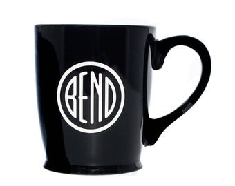 Sandblasted City of Bend Oregon Logo mugs