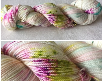 Hand dyed sock yarn - Do Something Happy MCN