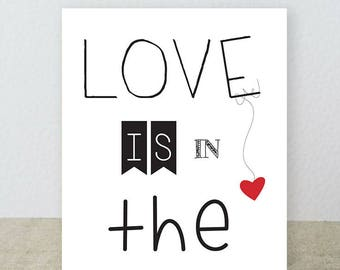 """Postcard """"LOVE IS IN THE KITCHEN""""... we love"""