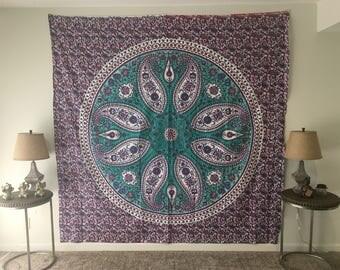 Hippy Flower Tapestry