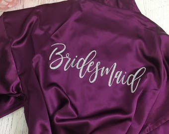 Personalized Future Mrs. Robe , Bride to Be Robe, Future Mrs., Bridesmaid Robe, Satin Robes, SOL MB
