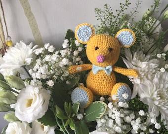MOUSE ,crochet amigurumi, crochet mouse  [ 11 cm ]