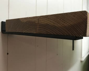 7 inch floating shelf bracket 2 inch wide x 1/4 thick. Hidden floating shelf brackets.