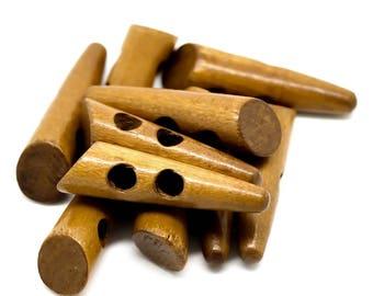 30 actuators wood, 5 x 1.3 cm, Brown