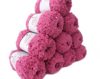 pink fluffy sequin Cardigan DOMINIKA, #707 10 x 50 g