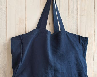 LARGE Natural LINEN Tote Bag, Large Tote Bag, Linen Shopping Bag, Market bag, Beach Bag, Linen Bag, Eco Bag