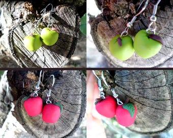 Apples & pears earrings