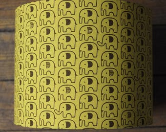 Lamp shade fabric elephants