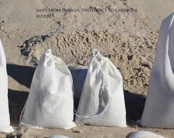 "Large Muslin Drawstring Bags (12""x16"") x10"