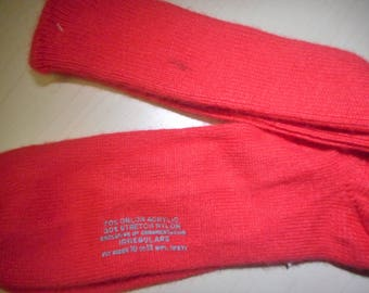 BRIGHT RED VINTAGE Socks  80's  Brand ?   Never Worn