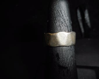 STERLING Silver   WEDDING BAND     Size 6