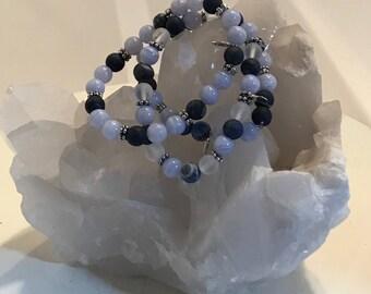 Sodalite & Blue Lace Agate Energy bracelet