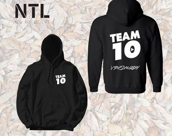 Kids Size Official Team 10 Official Unisex hoodie  Team 10 Jake Paul JP hoodie best price fast shipping Unisex  we have sizes for kids