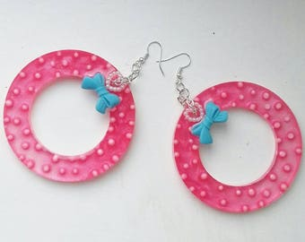 Candy Dot Hoops