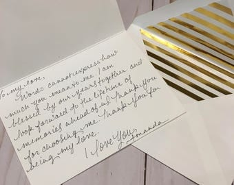 Hand-written Notes and Cards