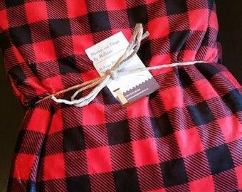 Buffalo red plaid Minky blanket