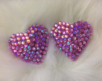 Pink AB Heart Pasties