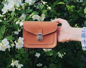 Leather belt bag / vintage leather waist bag / leather waist pack / handmade belt bag / leather wallet / leather belt pouch / leather wallet