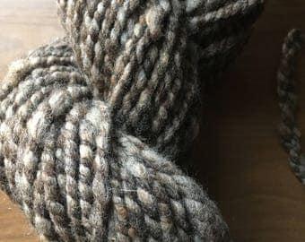 handspun local natural colored wool