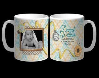 Your Baby's Photo and Name on a Customized Mug