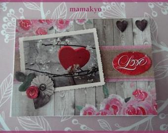 "3D card Valentine ""LOVE"""