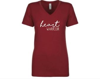 Adult heart warrior shirt | CHD Awareness shirt