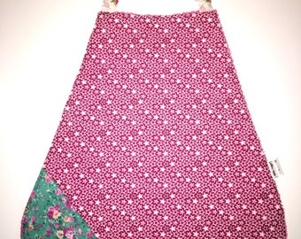 Bib elasticated Terry and cotton flowers and stars
