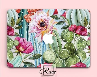Сactus MacBook cover 15 laptop case MacBook 13 in sleeve a1534 MacBook case Watercolor succulent 2016 MacBook pro hard case MacBook air 11
