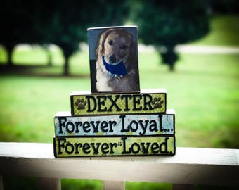 Personalized Pet Forever Loyal, Forever Loyal   - Wooden Block Set