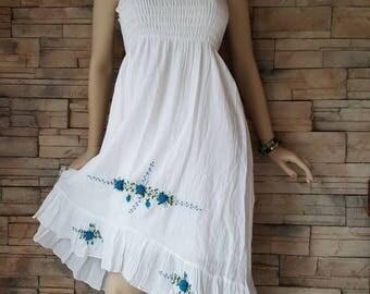 Indian gauze cotton  dress,boho  summer dress, (2)