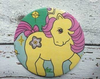 77mm handbag / pocket mirror My Little Pony annual 1988