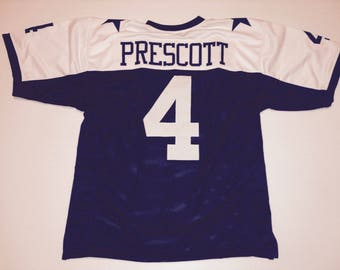 Dallas Cowboys Dak Prescott UNSIGNED CUSTOM Made Thanksgiving Jersey