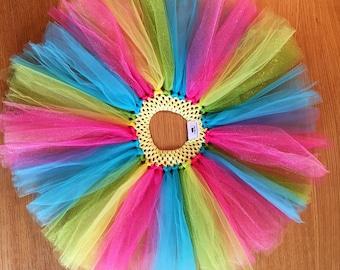 Girls Tutu Purple - Rainbow, Pink, Blue, Yellow, Green, Sparkle