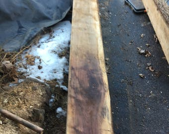 "Massive Walnut Mantel Beam Etc. Aprox 126"" x 12"" - 11"" x 4.75"""