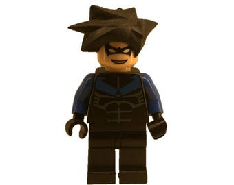 LEGO minifigures Custom Nightwing Made with Original LEGO Parts