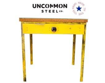 Industrial End Table, Industrial Desk, Steel End Table, Metal Nightstand, Rustic Night Stand, Industrial Side Table, Industrial Office