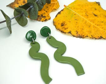 Statement Polymer Clay Earrings - 'Sassy Snakes'