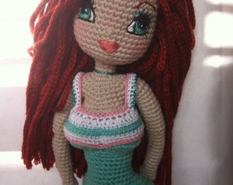 Crochet Doll Pattern.  Kim Doll.   PDF instant download