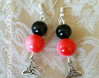 "Earrings ""Triquetra"""