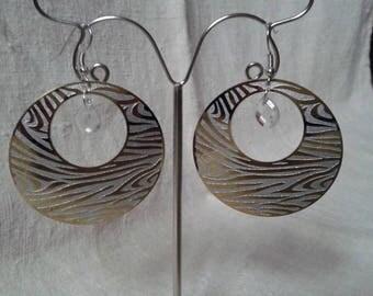 hoop earrings Zebra white