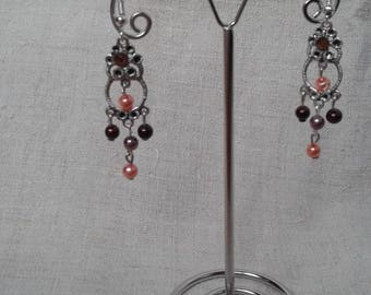 "Earrings ""the silver and pretty beads"""